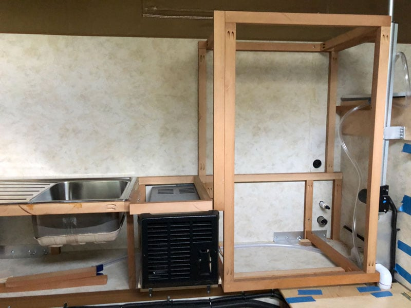 Shell Camper Framing For Drawers
