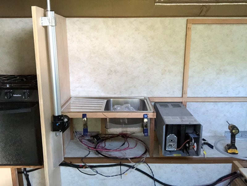 Shell Camper Furnace Installed