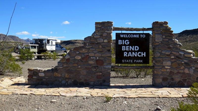 State Park Entrance Big Bend Ranch