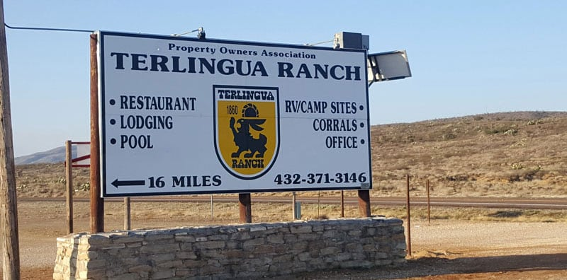 Terlingua Ranch Lodge Just Outside The South Entrance