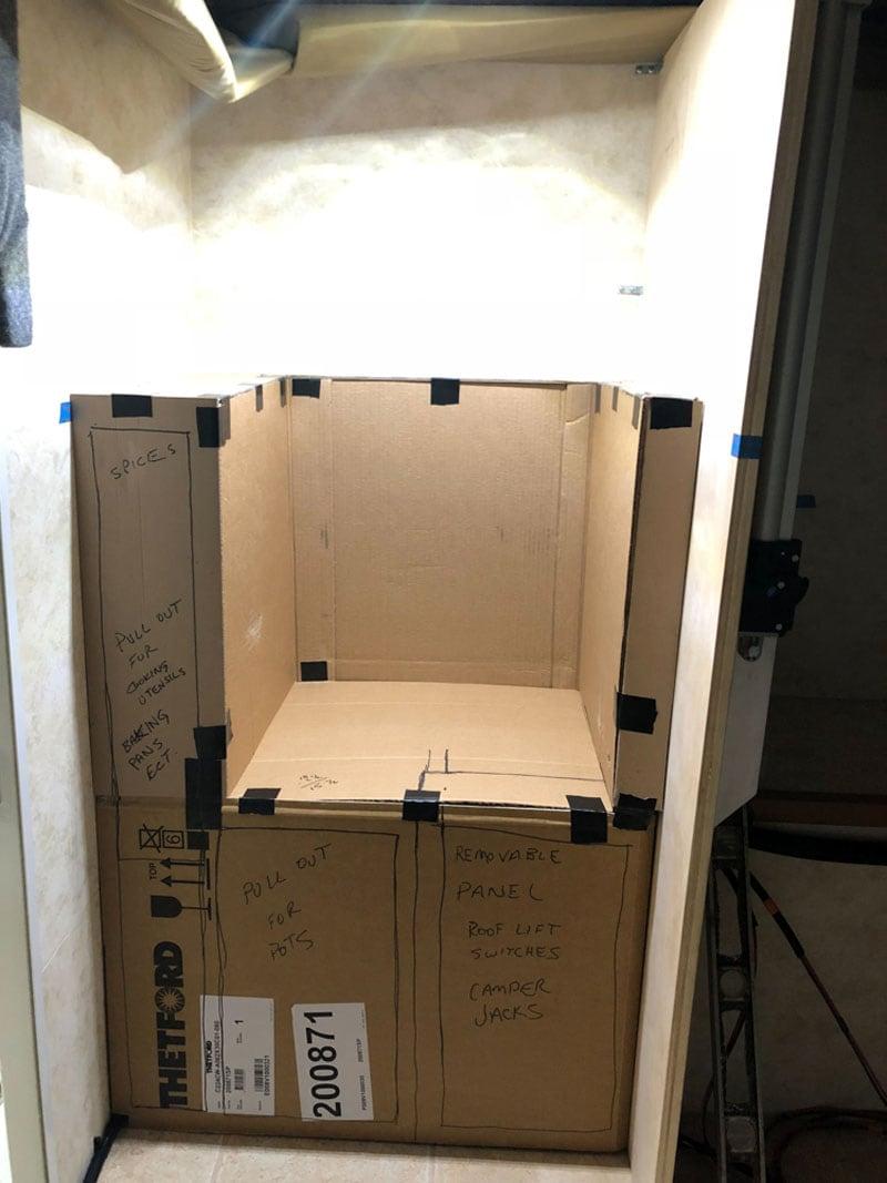 Cardboard Mockup Kitchen