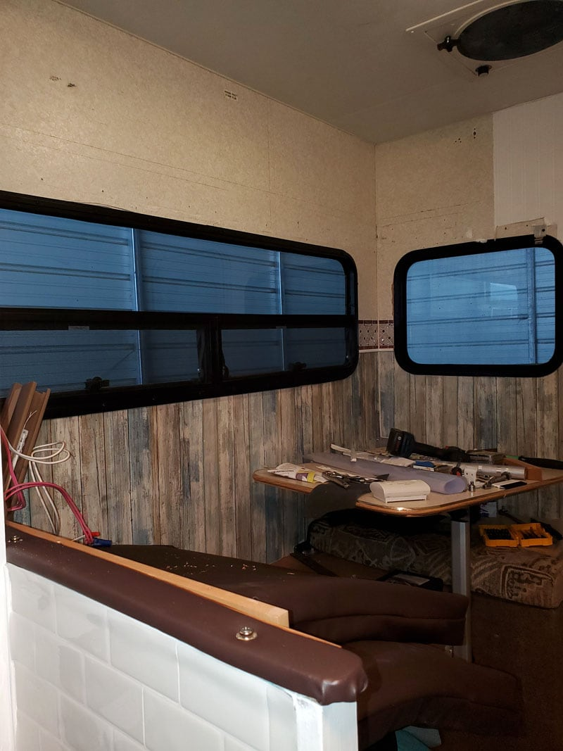 Bunk Camper On Wall Gone