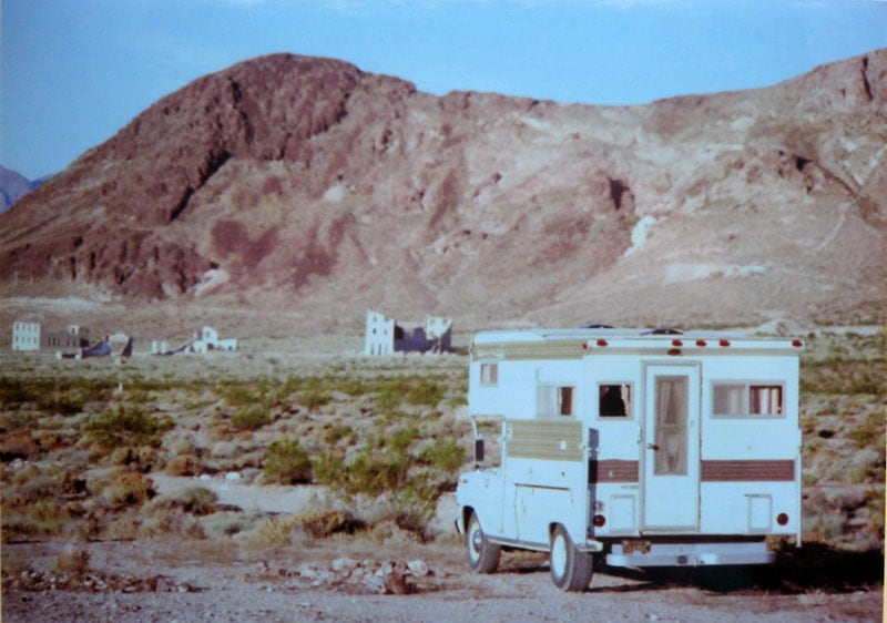 Dry camping above Rhyolite