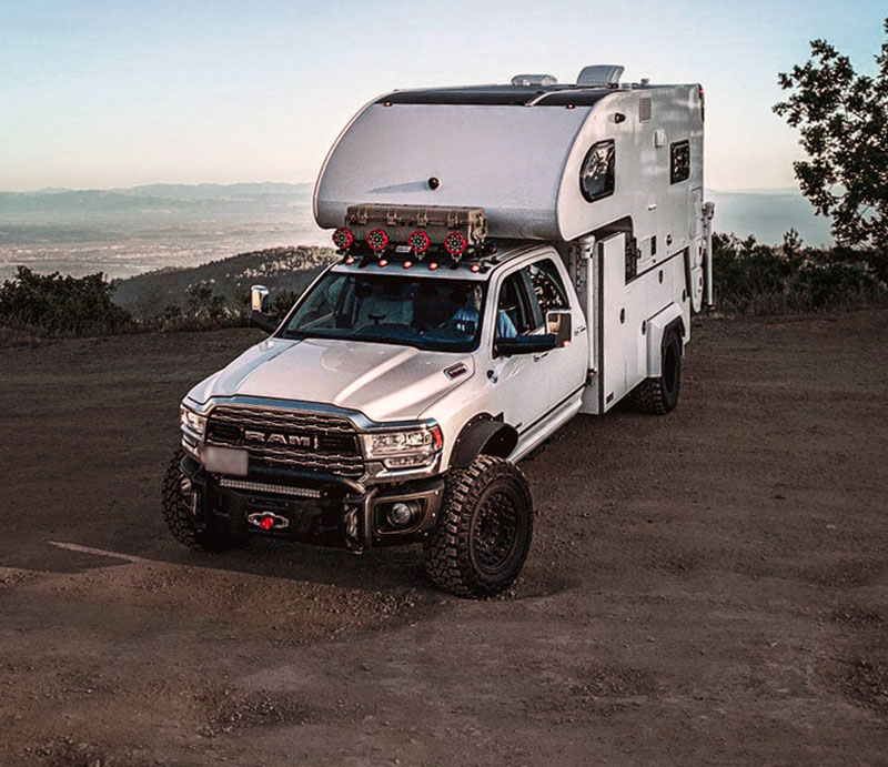 nuCamp Cirrus camper overland vehicle