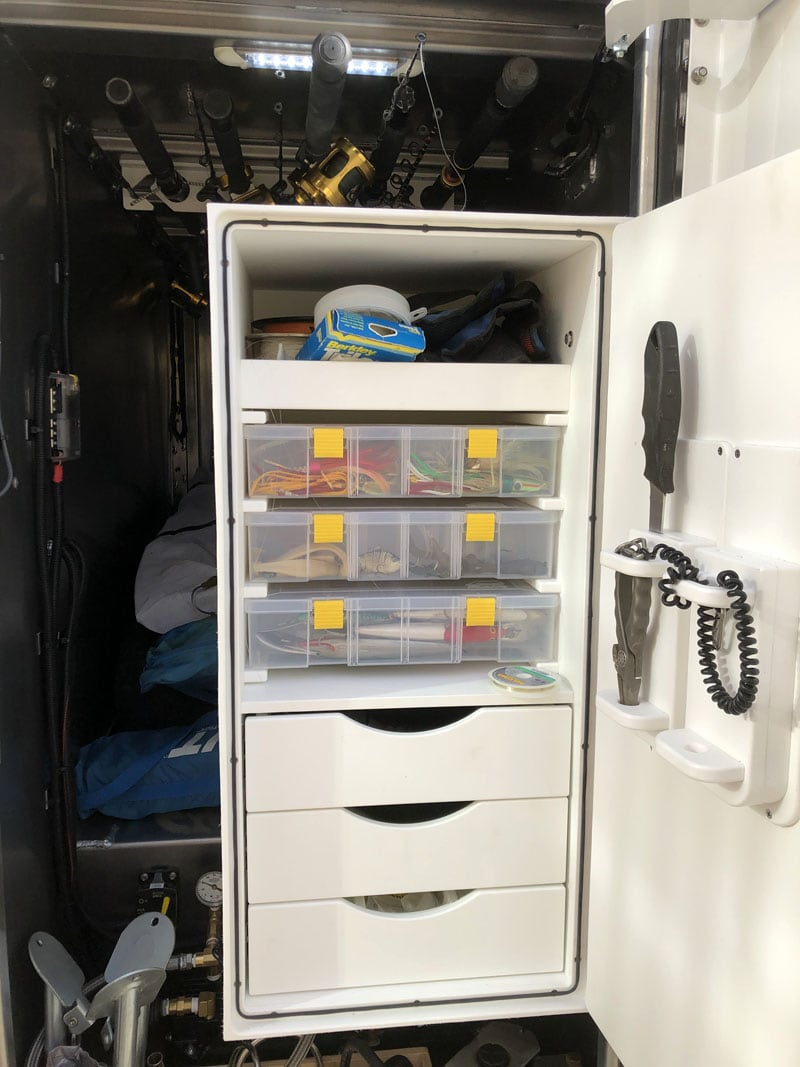 Fishing Gear In Front Storage Compartment
