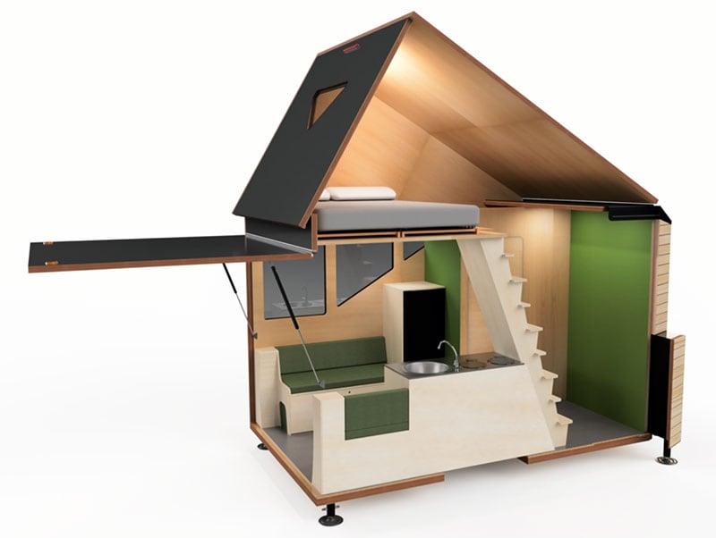 Haaks Camper 3D Model Cut Away