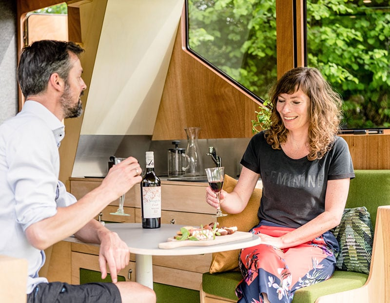 Haaks Camper Drinks In Dinette