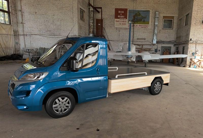 Haaks Camper Flatbed Fiat Truck