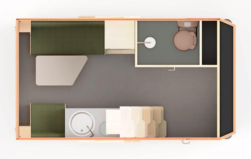 Haaks Camper Floorplan