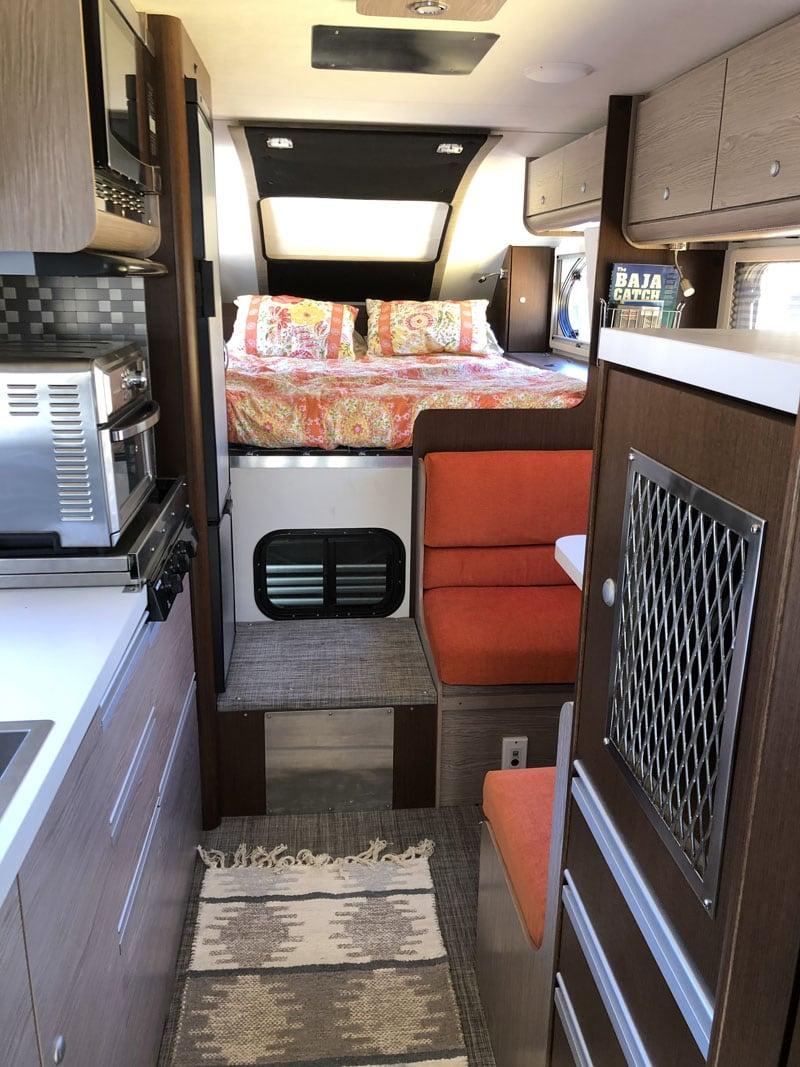 Inside Overland Camper Back To Front