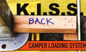 Simple truck camper loading system