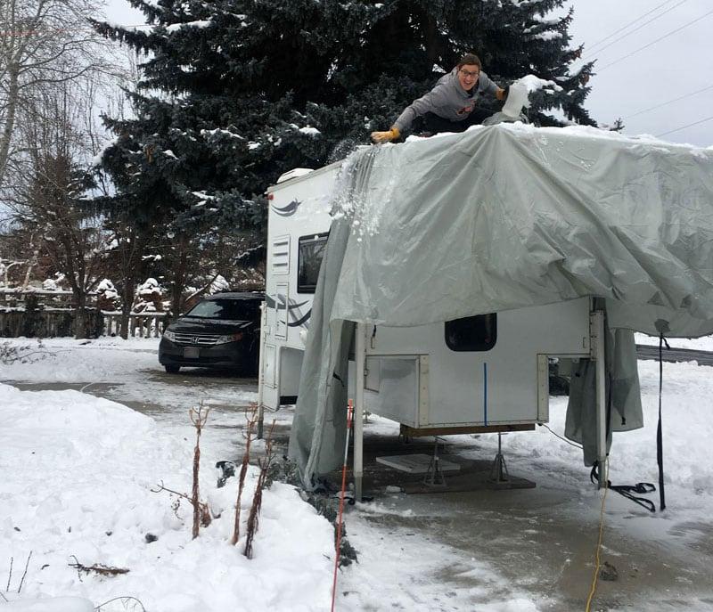 Sara Jane Snow Removal Camper