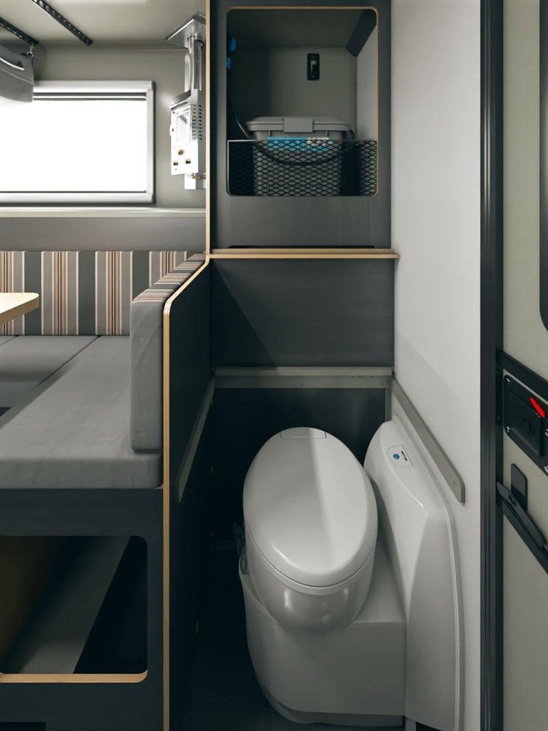 Scout Kenai Camper Bathroom Cassette Toilet or Porta Potty