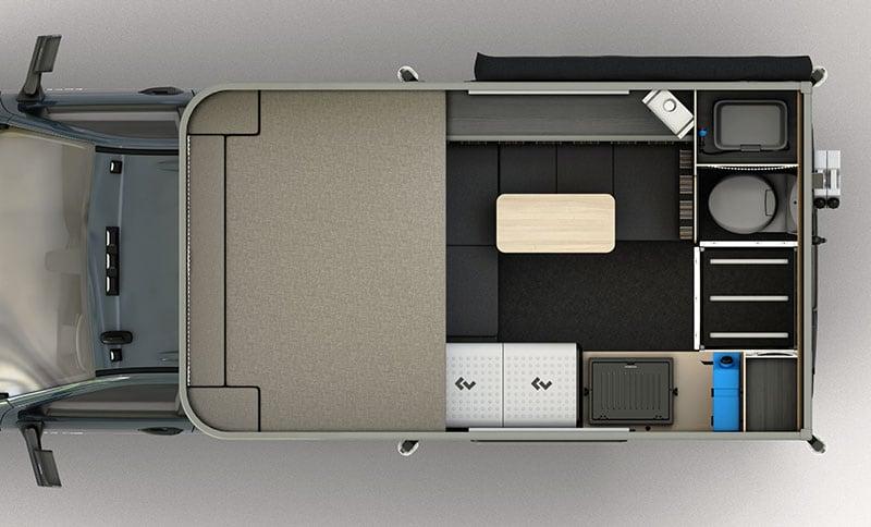 Scout Kenai Camper Floor Plan