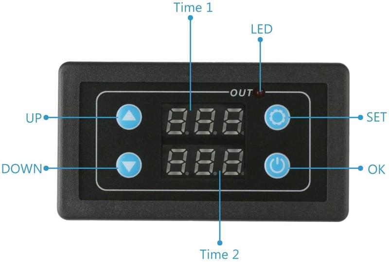 Single Way Relay Module Delay Power Off Trigger Delay Cycle Timing Circuit Switch