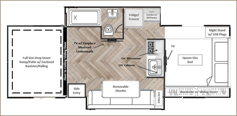 Smoky Mountain Camper Floorplan