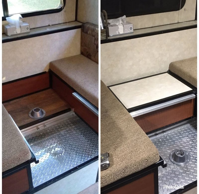 Before And After Dinette Table Move