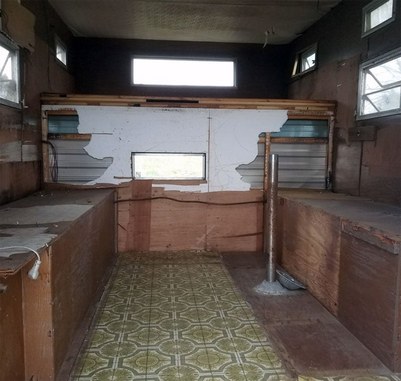 Camper Inside Gutted And Shell Like