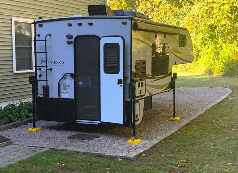 Camper storage spot at home