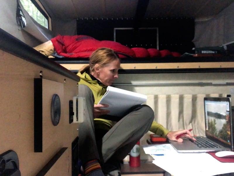 Inside Camper Working