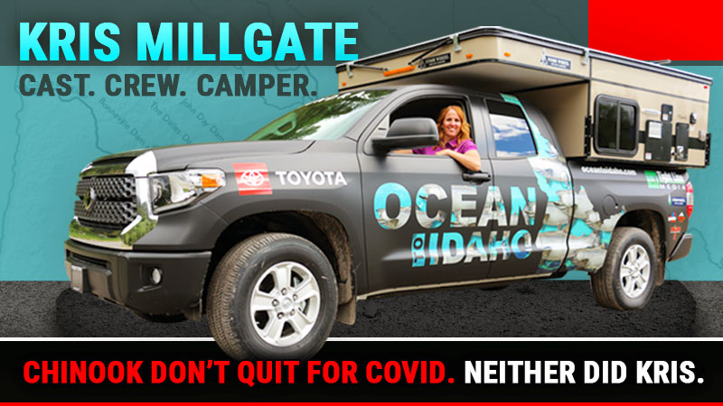 Kris Millgate Cast Crew Truck Camper, Ocean to Idaho Project