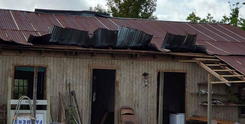 Neighbor's Roof Tropical Storm Laura