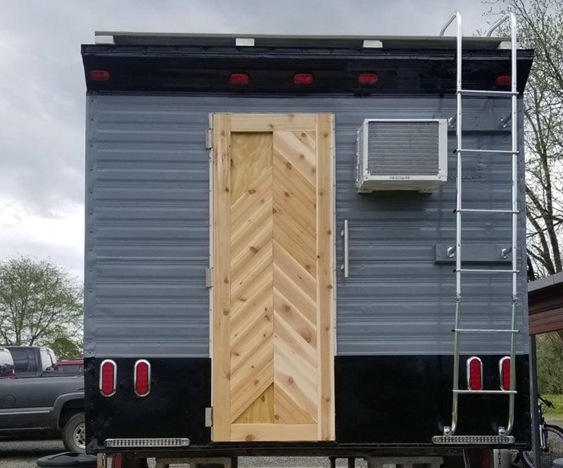 New Back Cedar Door Vintage Camper