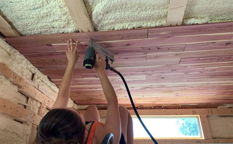 New Ceiling In Retro Camper