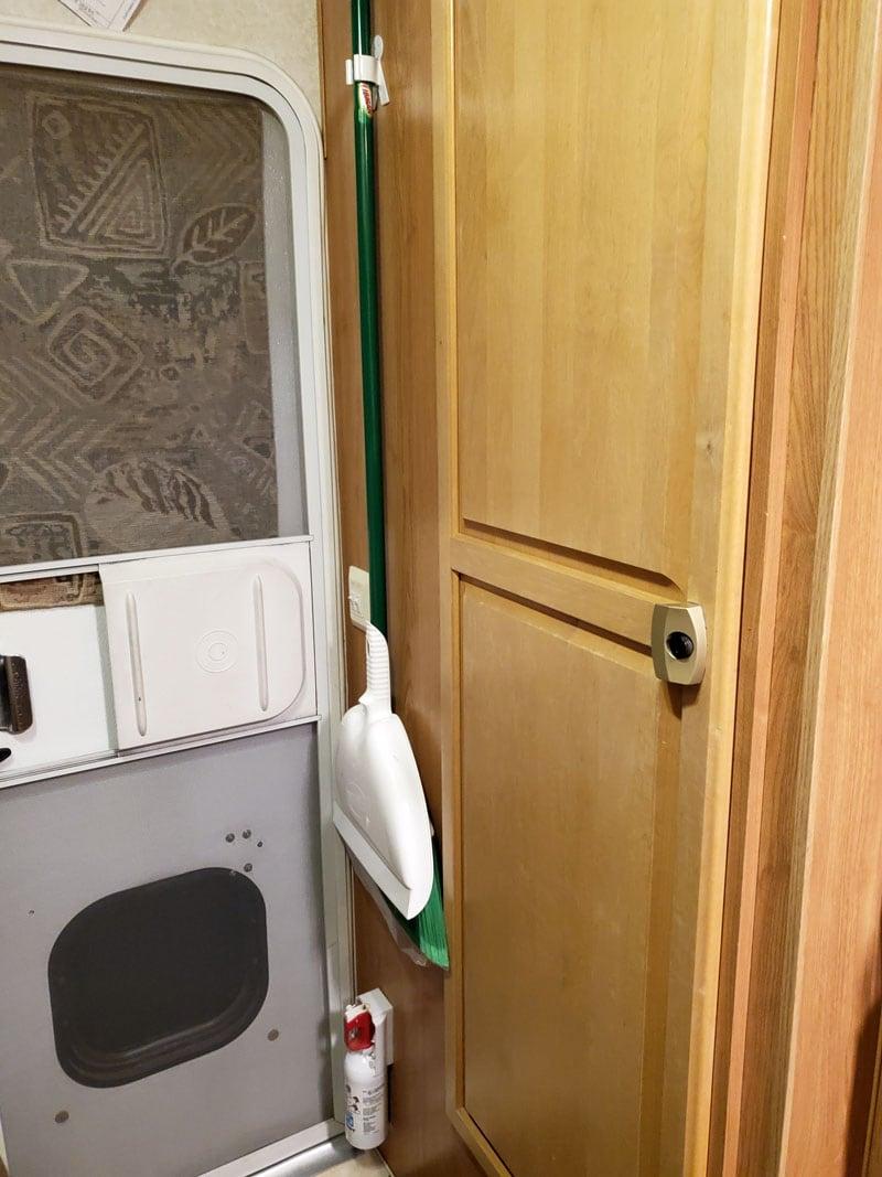 Original Bathroom Door Camper