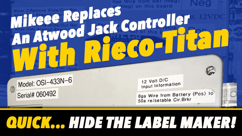 Replace Atwood Jack Controller with Rieco Titan