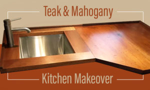 Teak and Mahogany Camper Kitchen Makeover
