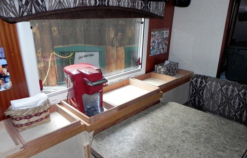 Window Storage Shelves In Northern Lite