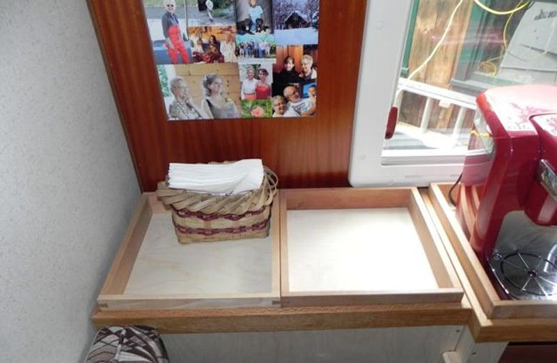 Window Storage Top Shelf