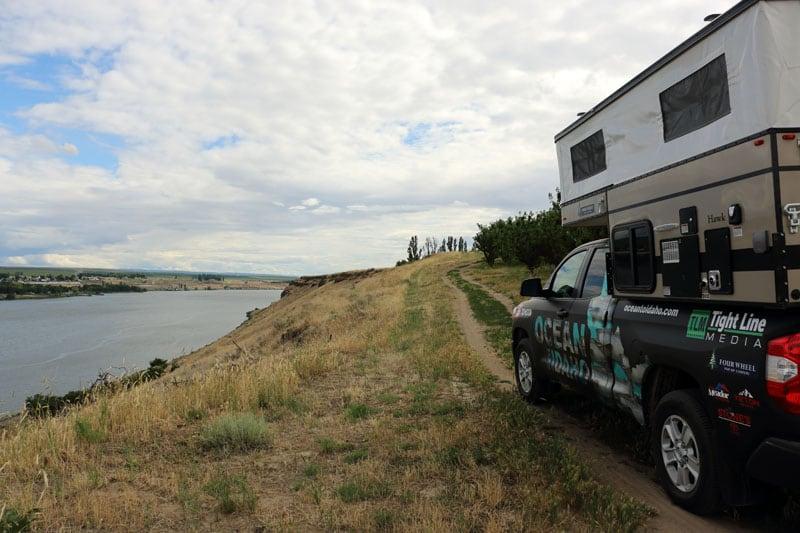 Bluff Above The Snake River Near Pasco Washington