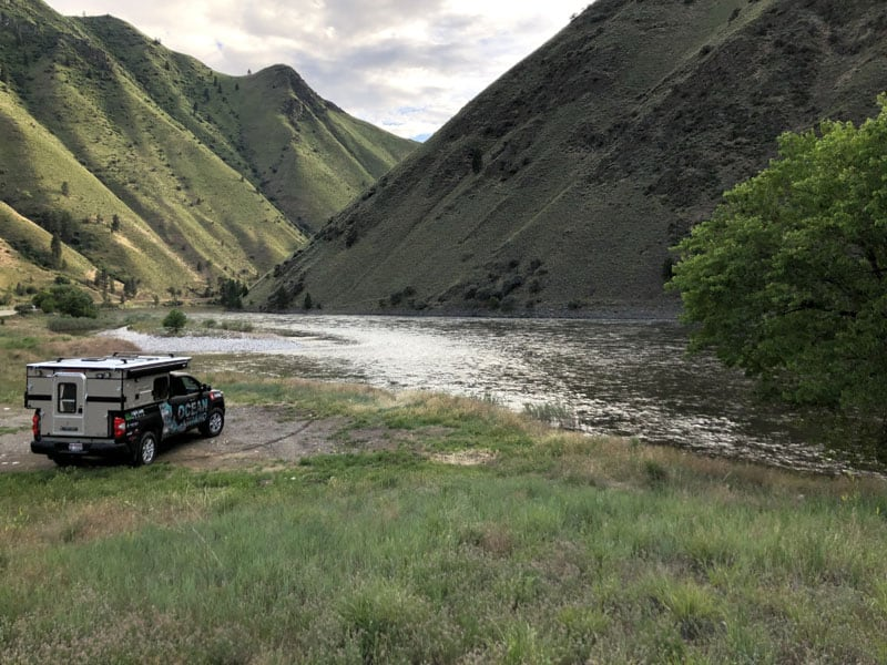 Parked Along The Salmon River