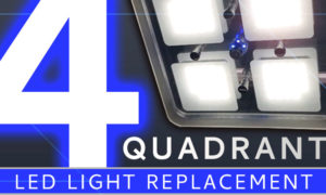 Four quadrant RV LED light