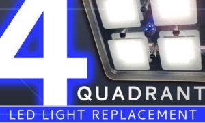 Four quadrant RV LED light