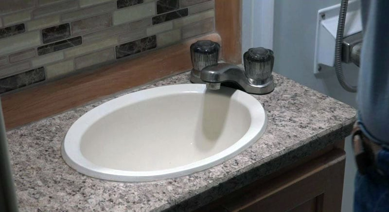 Bathroom plastic RV sink needs to be replaced