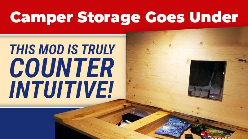 Under counter camper storage mod