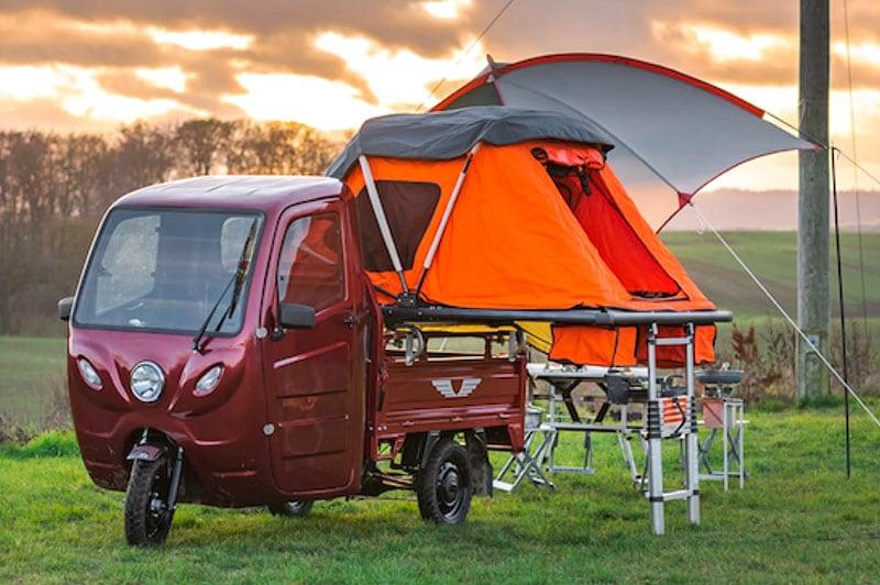 Electric Frog Camper Set Up Camp
