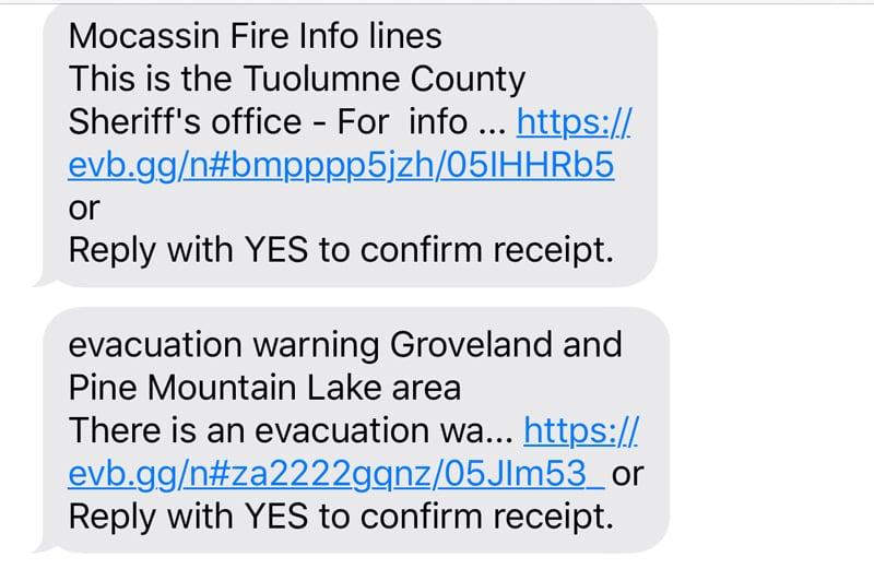 Evacuation Warning California Fires
