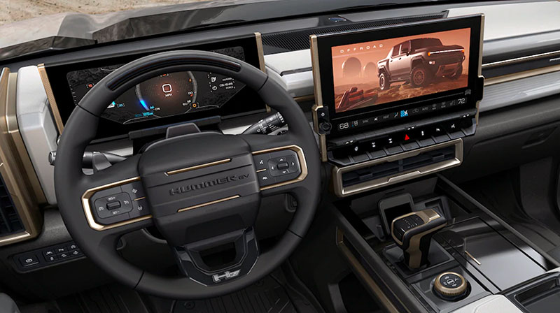 Hummer EV Interior Dash Screens