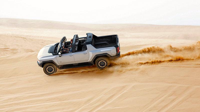 Hummer EV Running Dunes