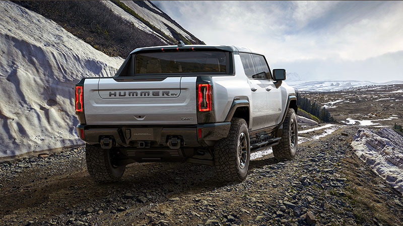 Hummer EV Truck Climbs Mountain Trail
