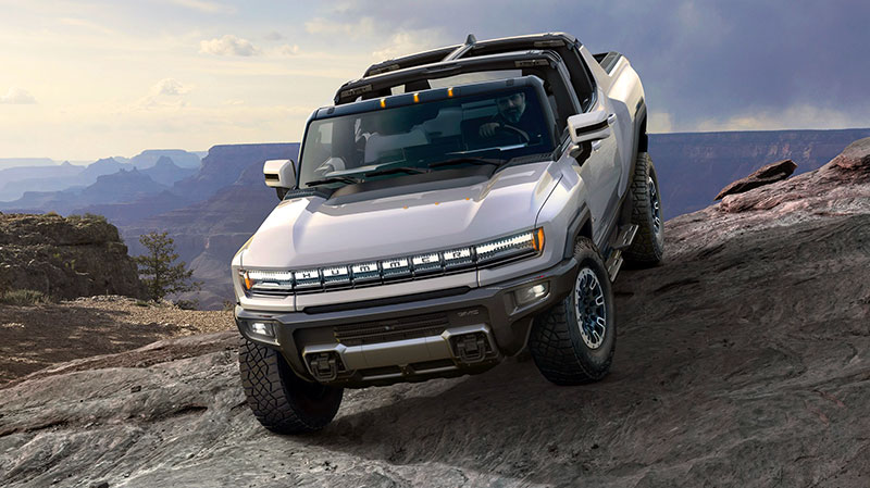 Hummer EV Truck Rock Crawling
