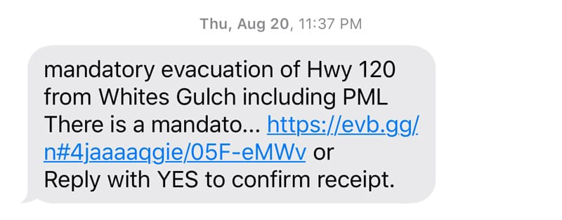 Mandatory Evacuation California Fires