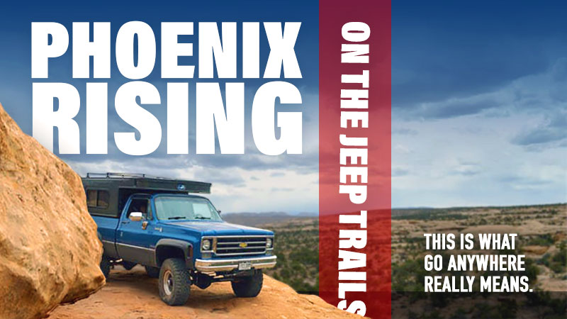 Phoenix Truck Camper on Jeep Trails