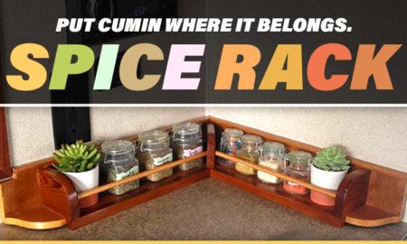 RV Corner Spice Rack