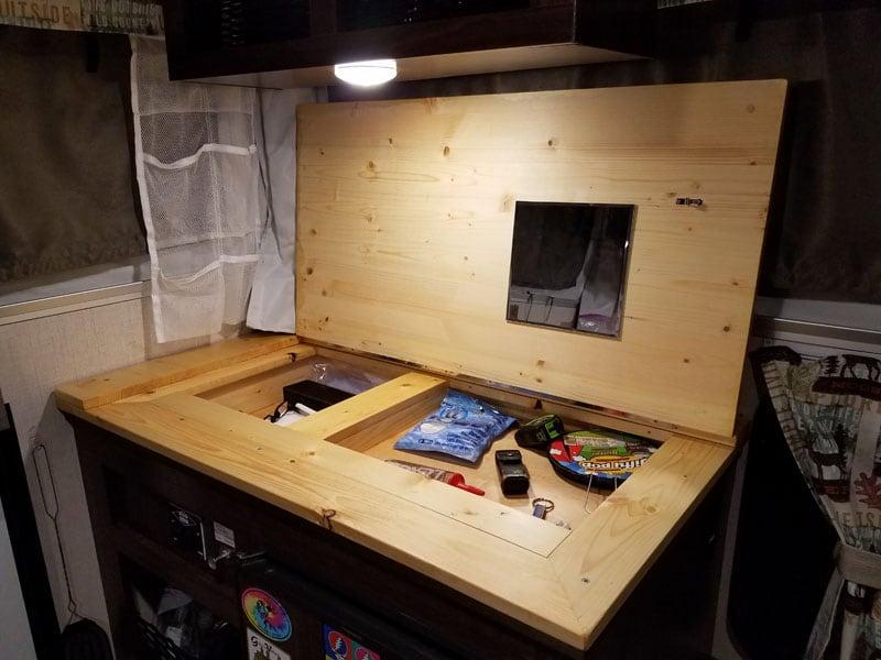 Under Counter Storage Area