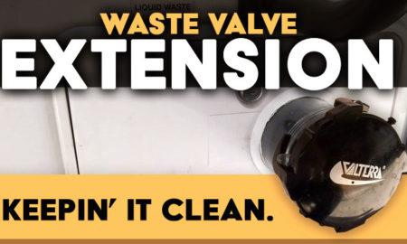 Rv waste valve extension solution